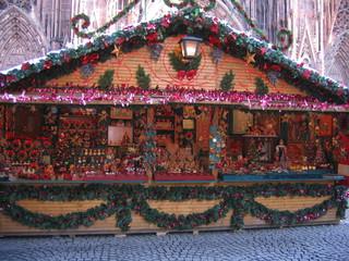 Cabane au marché de Noël