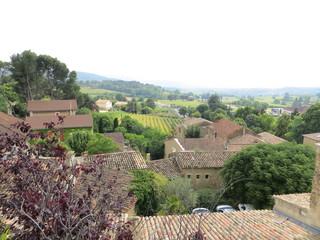 Vue depuis les hauteurs de Puyméras - Puyméras