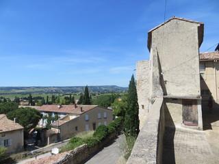 Vue depuis les hauteurs de Puyméras - Sablet
