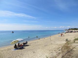 La plage Agios Ioannis à Nikiti